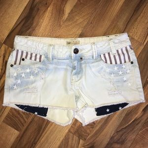 ❗️B2G1❗️YMI | Murica Patriotic Denim Shorts